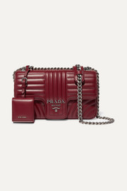 Prada Diagramme medium quilted leather shoulder bag