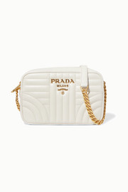 Prada Diagramme small quilted leather shoulder bag