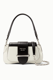 Sidonie mini two-tone leather shoulder bag