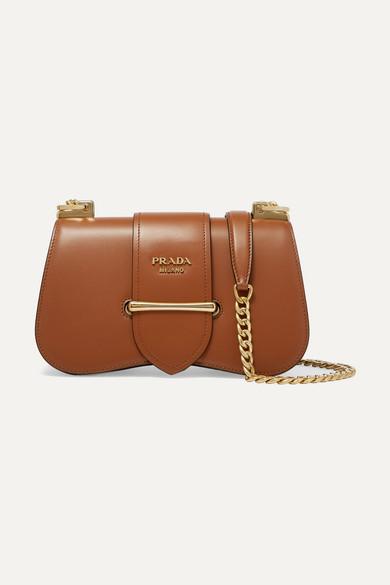 Prada Sidonie Medium Leather Shoulder Bag In Brown