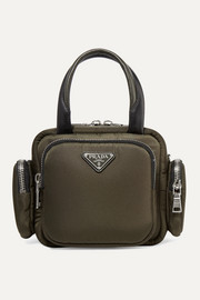 Prada Leather-trimmed shell tote