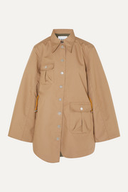 GANNI Brushed-twill jacket
