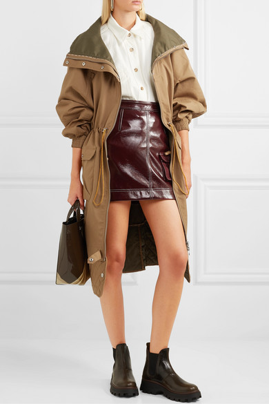 Ganni Jackets Quilted brushed-twill jacket