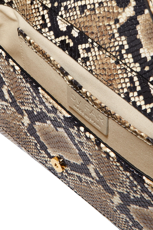 BY FAR Miranda snake-effect leather shoulder bag