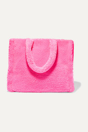 Lola neon faux shearling tote