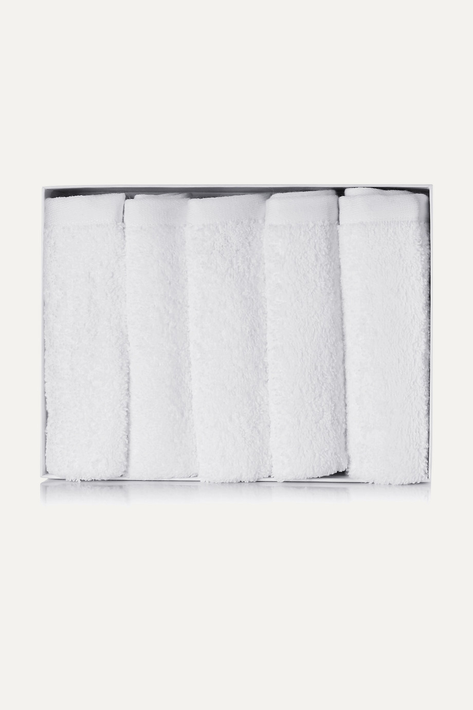 Votary Set aus fünf Reinigungstüchern aus Baumwollfrottee