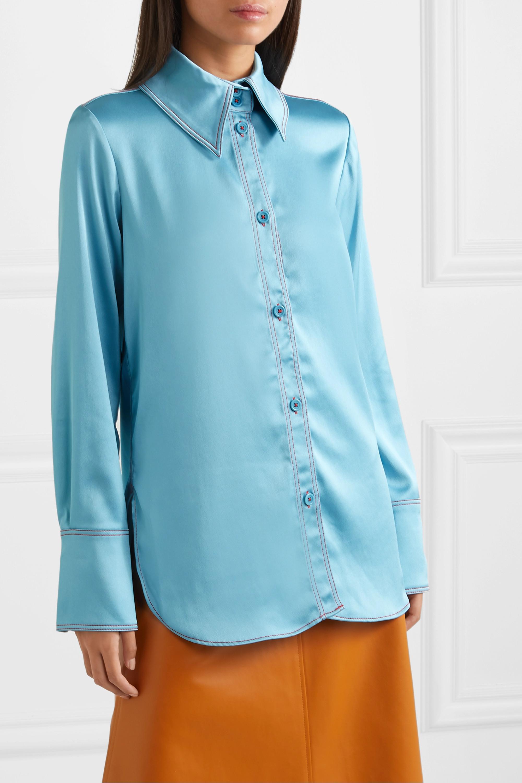 Stine Goya James oversized satin shirt