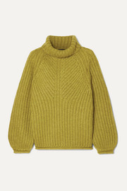 Nicholas ribbed mohair-blend turtleneck sweater