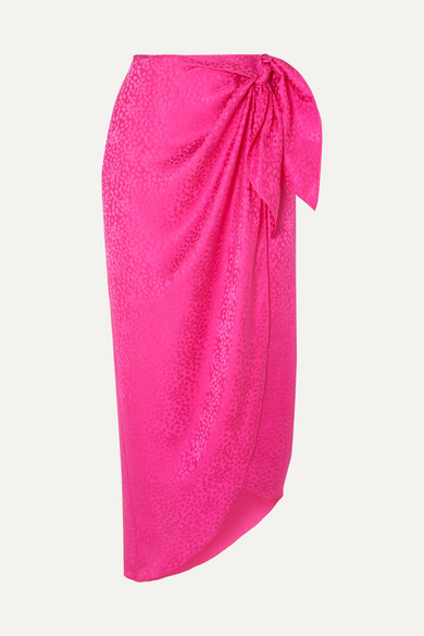 discount collection buy good superior performance Carrie silk-jacquard wrap midi skirt
