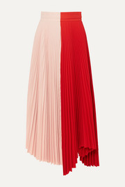 A.W.A.K.E. MODE Double Trouble Doric pleated two-tone cady midi skirt