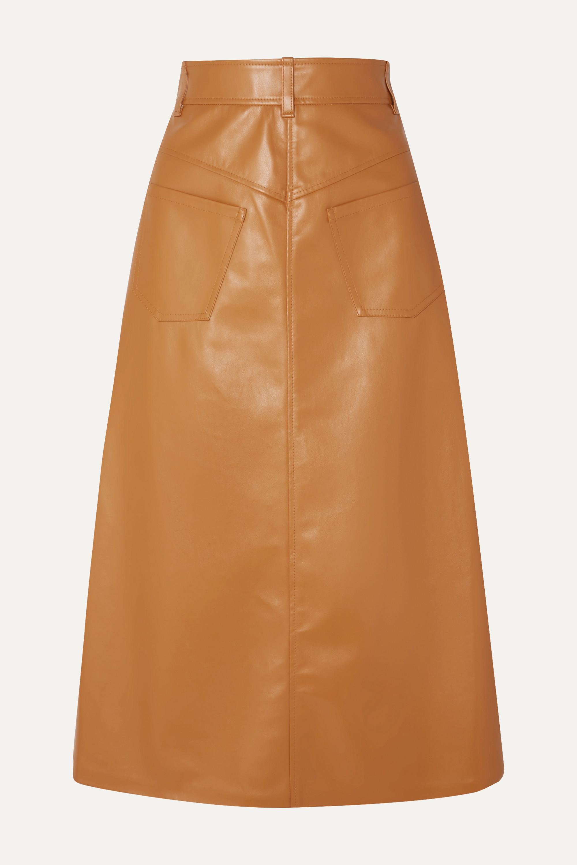 A.W.A.K.E. MODE Faux leather midi skirt