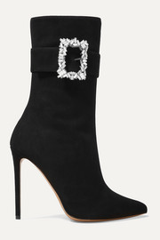 Roos crystal-embellished suede ankle boots