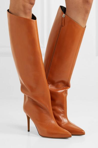 Alexandre Vauthier – Alex Leather Knee Boots – Tan
