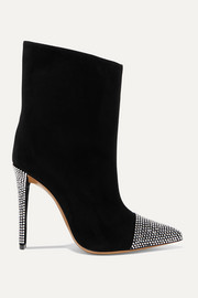 Christie crystal-embellished suede ankle boots