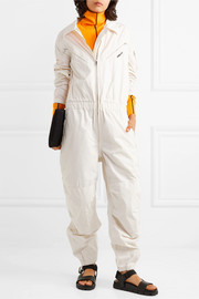 Convertible embroidered cotton-canvas jumpsuit