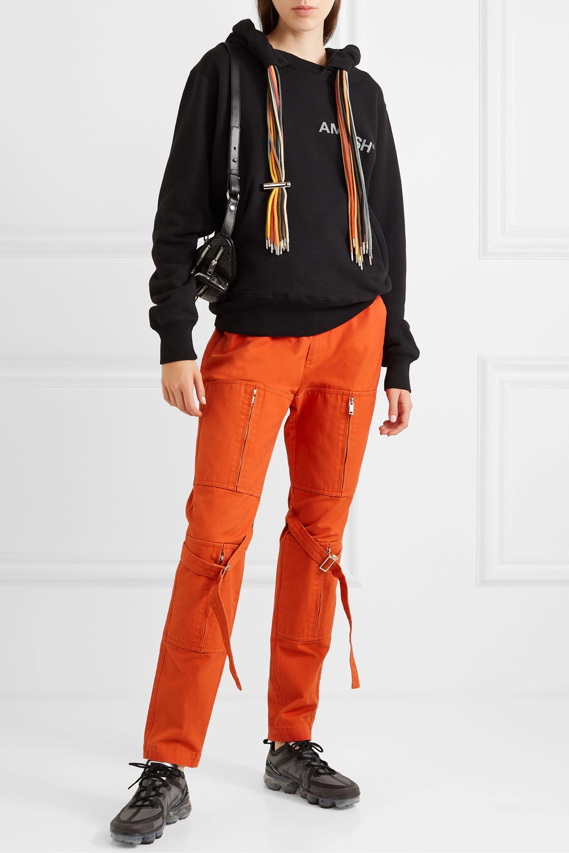 AMBUSH® Printed cotton-jersey hoodie