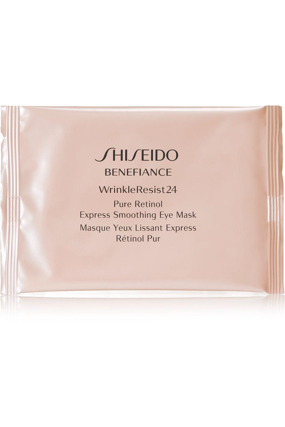 Shiseido Benefiance WrinkleResist24 Pure Retinol Express Smoothing Eye Mask – 4 Stück – Augenmasken