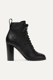 Cruz 95 textured-leather ankle boots