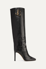 Jimmy Choo Mahesa 100 embellished leather knee boots
