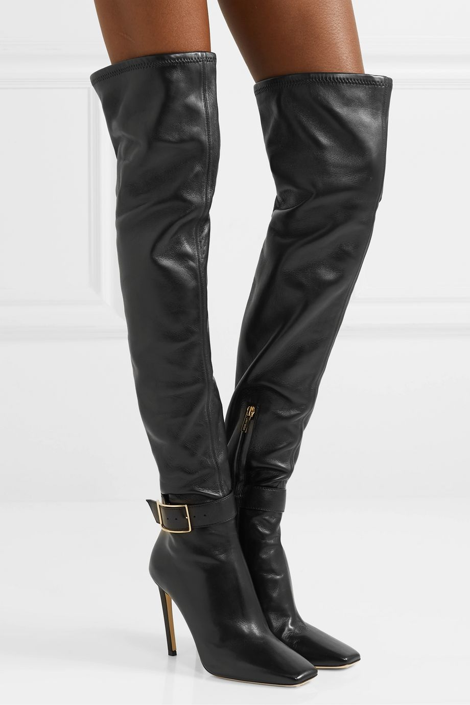 Jimmy Choo Takara 100 leather over-the-knee boots