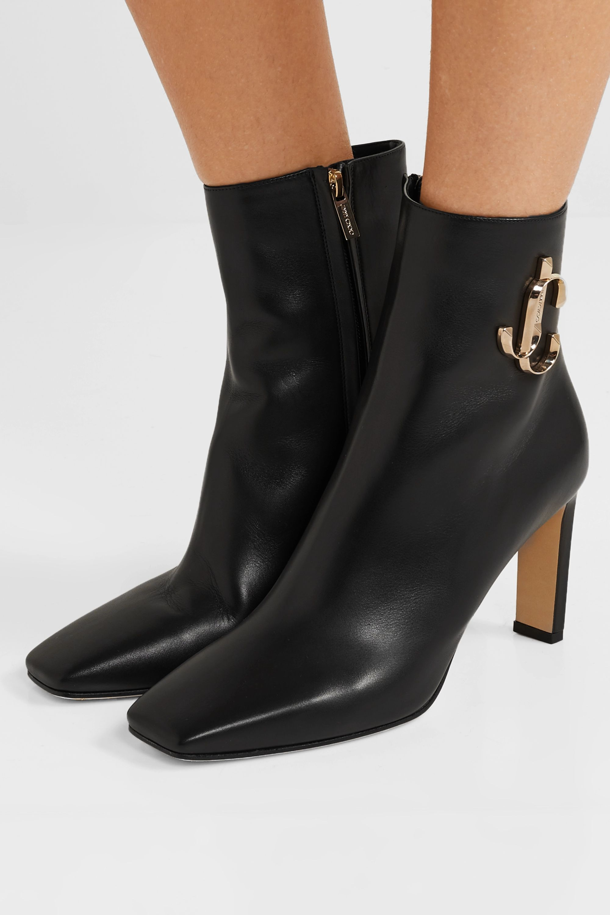 Jimmy Choo Minori 85 embellished leather ankle boots
