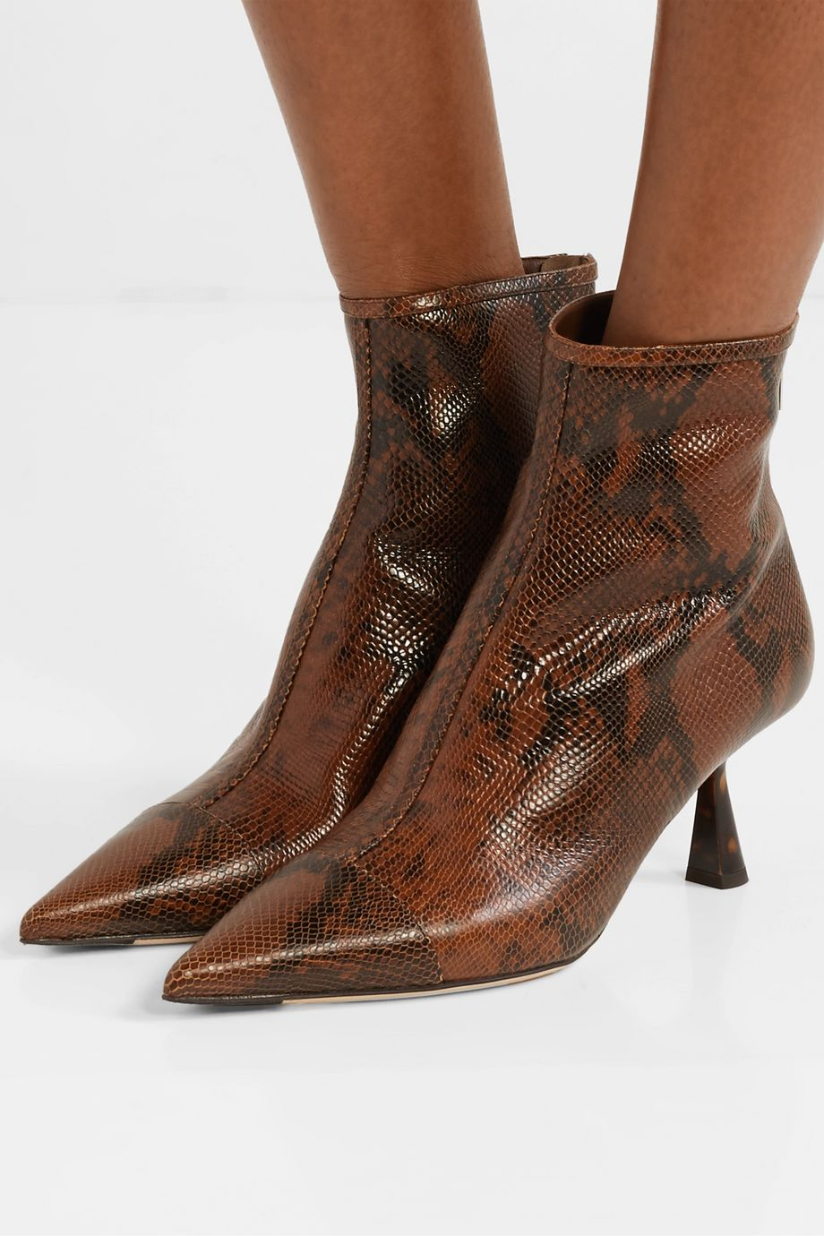 Jimmy Choo Kix 65 snake-effect leather ankle boots