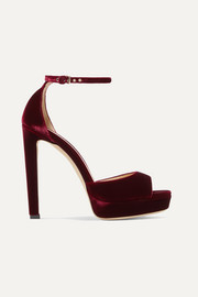 Jimmy Choo Pattie 130 velvet platform sandals