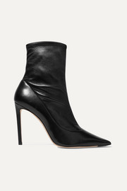 Jimmy Choo Brin 100 leather sock boots