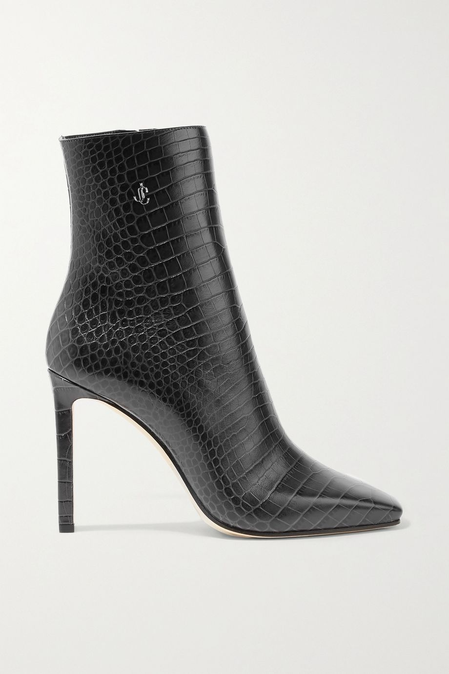 Jimmy Choo Minori 100 embellished croc-effect leather ankle boots