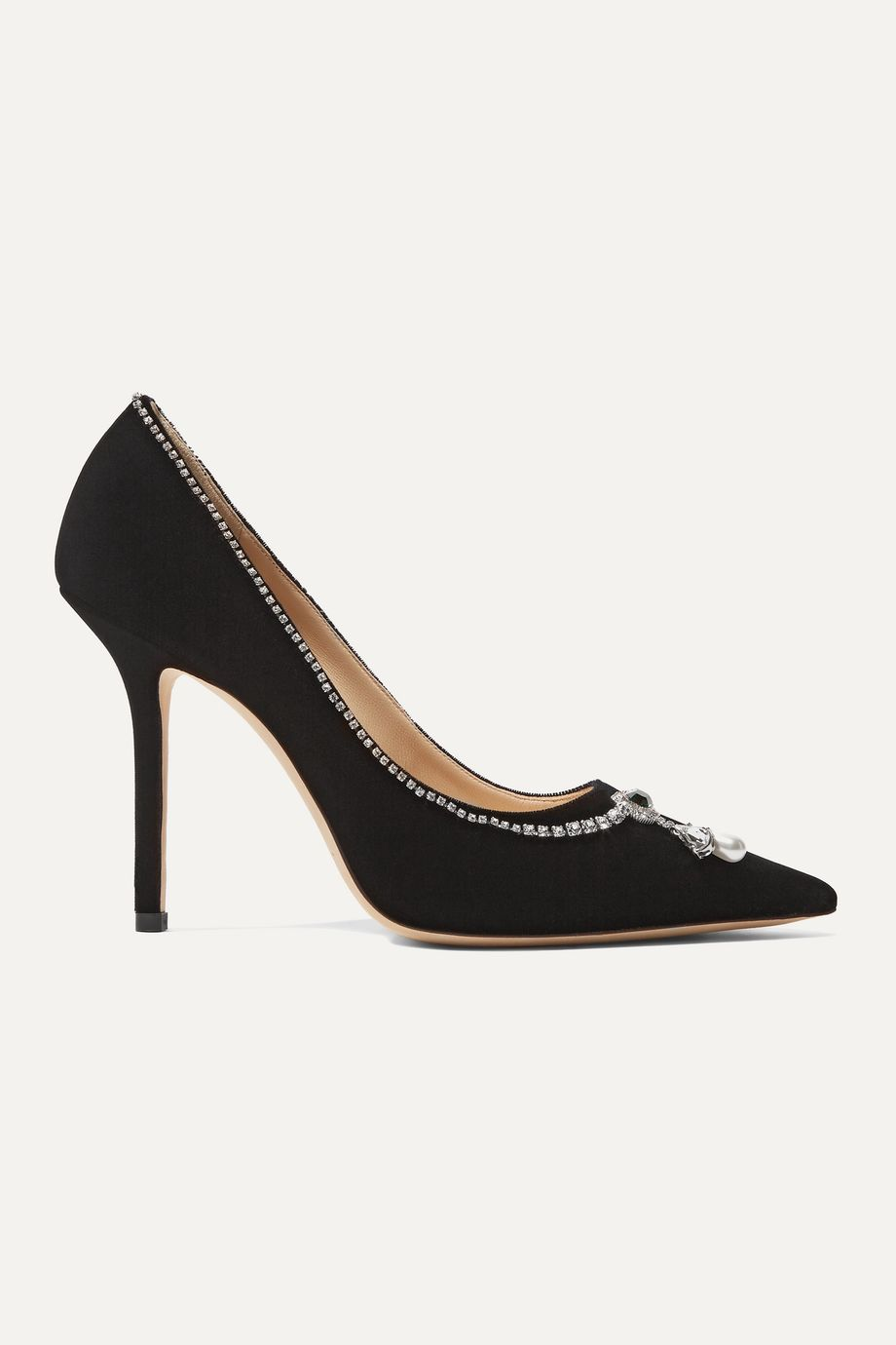 Jimmy Choo Love 100 embellished velvet pumps
