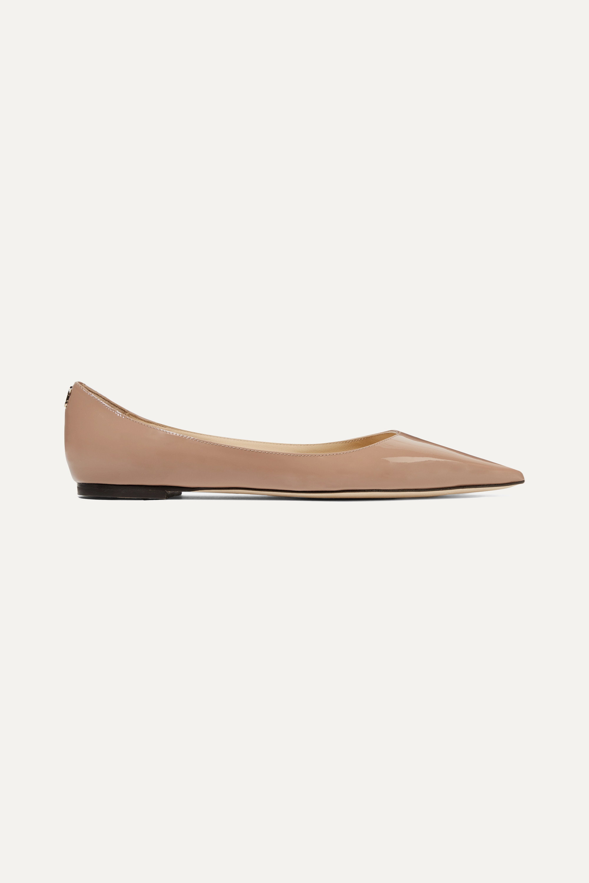 Jimmy Choo Love patent-leather point-toe flats