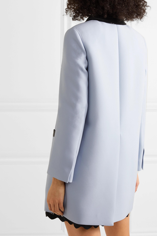 Miu Miu Manteau en cady à finitions en velours et à sequins
