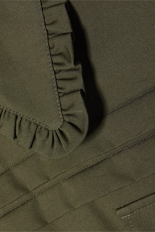 Miu Miu Pintucked cotton-poplin mini dress