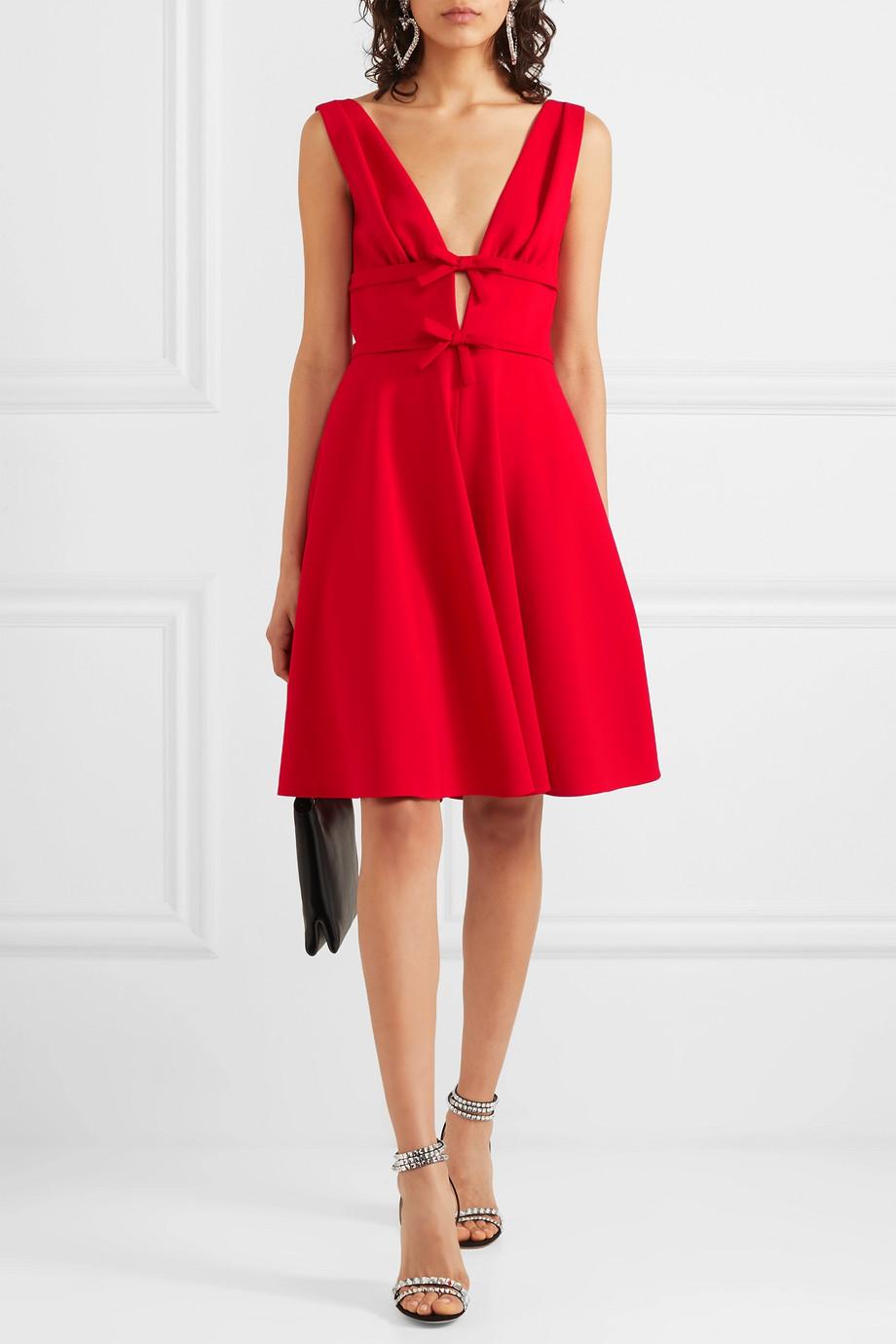 Miu Miu Bow-embellished cady dress