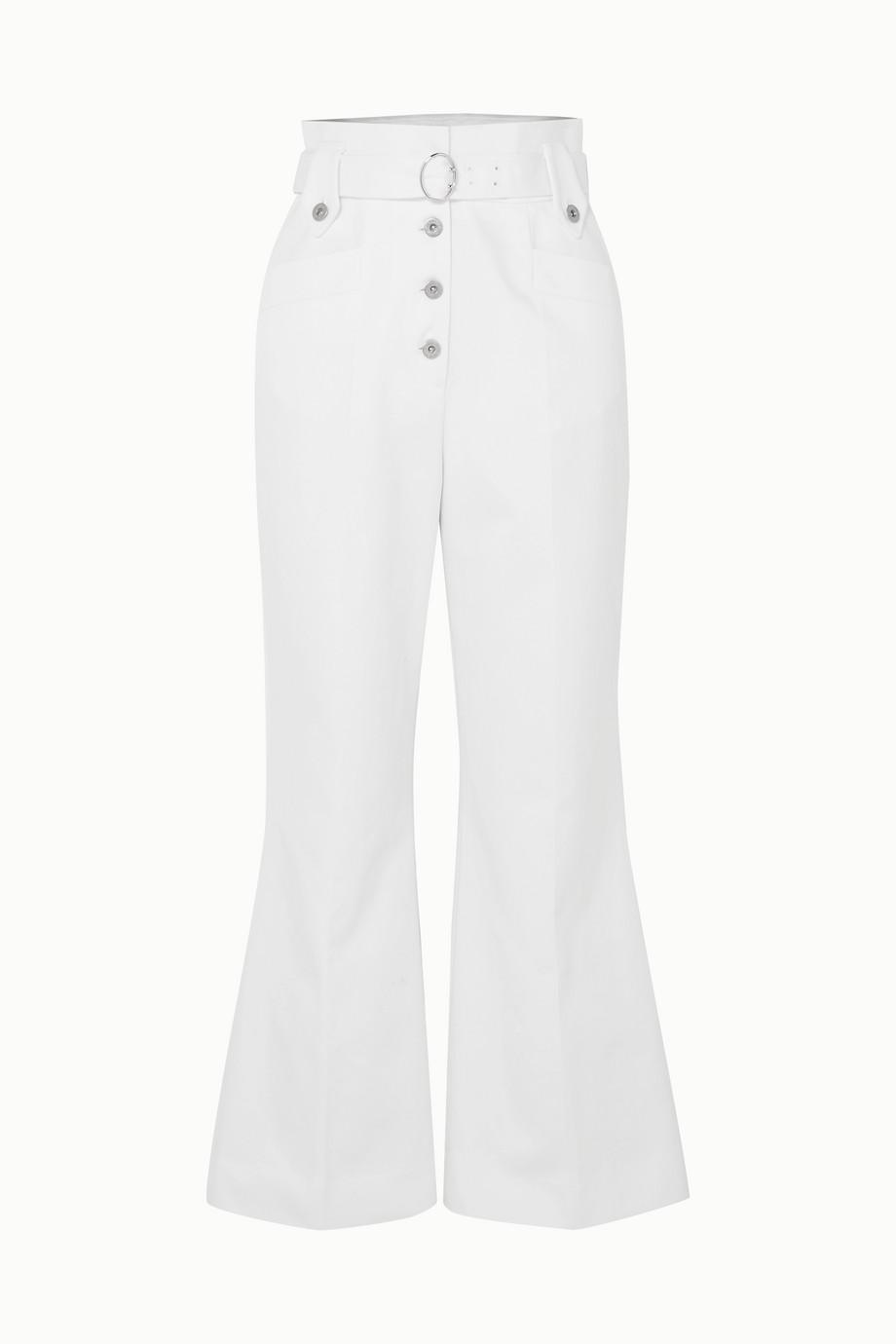 Miu Miu Belted cotton-twill flared pants