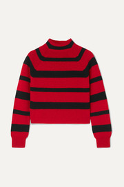 Miu Miu Cropped striped cashmere sweater