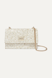 Jimmy Choo Leni TT glittered leather shoulder bag