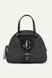Jimmy Choo Varenne leather-trimmed suede tote