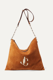 Varenne leather-trimmed suede shoulder bag