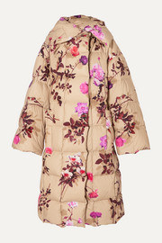 Recabis oversized floral-print quilted shell down coat
