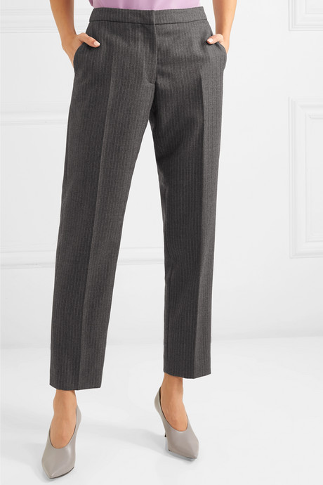 Poumas pinstriped wool tapered pants