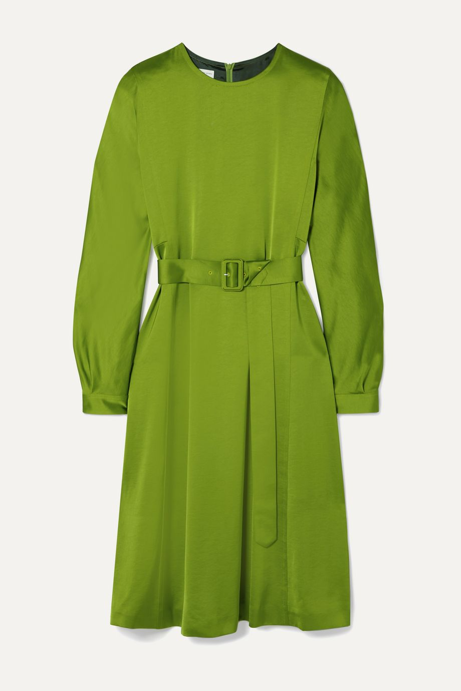 Dries Van Noten Dicina belted satin midi dress