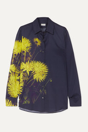 Clavelly floral-print cotton-poplin shirt