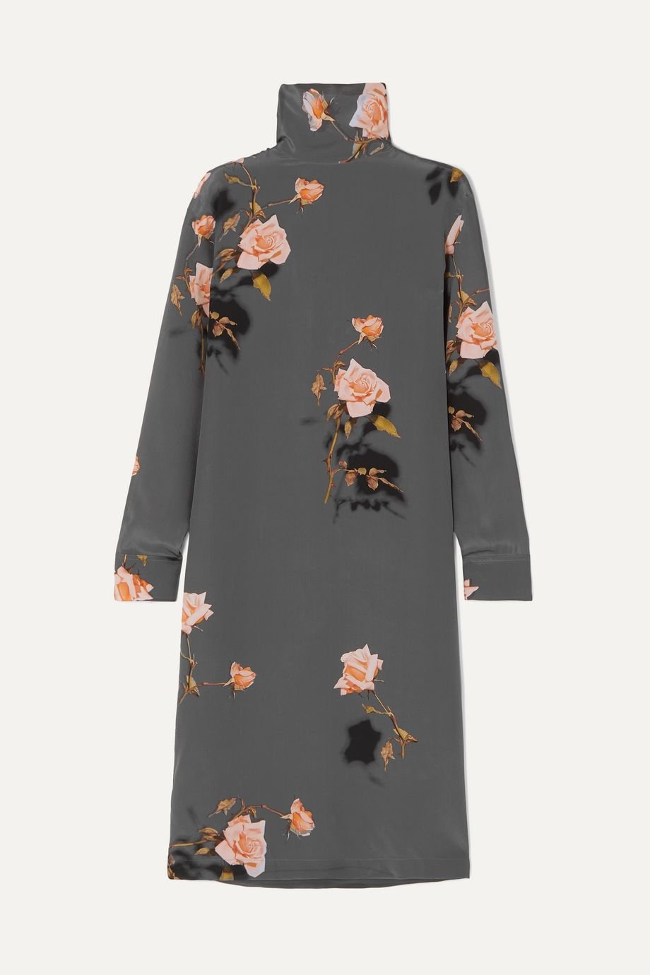 Dries Van Noten Dontisy floral-print silk-habotai midi dress