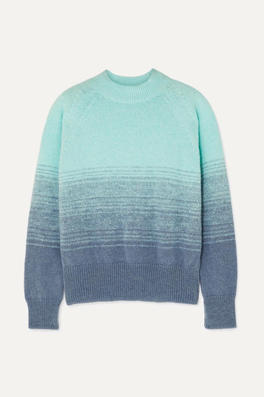 Dries Van Noten Knitted ombré sweater
