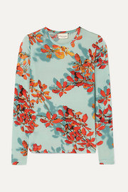 Hatik floral-print stretch-jersey top