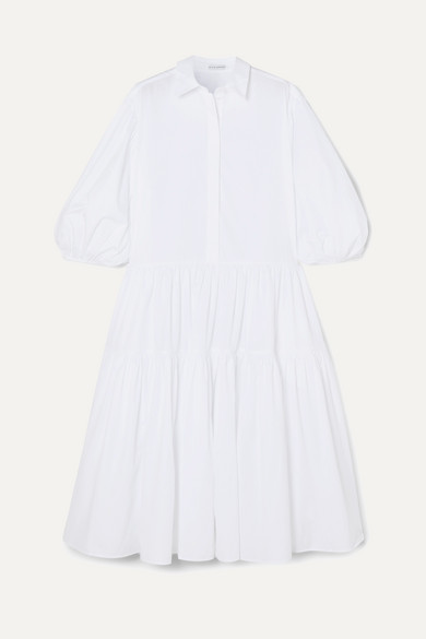 Amy Oversized Tiered Cotton Poplin Shirt Dress by Cecilie Bahnsen