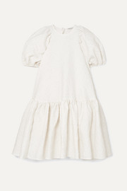 Alexa oversized tiered cloqué dress