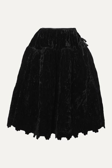 Cecilie Bahnsen Rosie quilted velvet midi skirt
