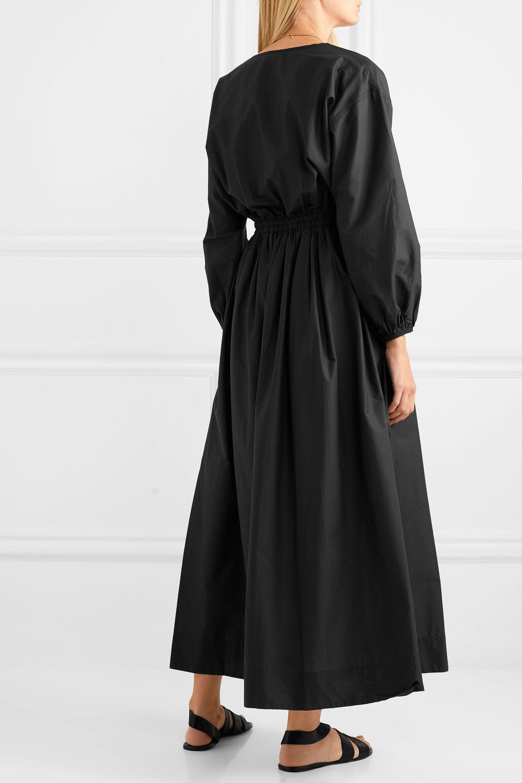 Matteau Wrap-effect cotton-poplin maxi dress